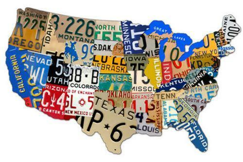 usa license plate map ebay. Black Bedroom Furniture Sets. Home Design Ideas