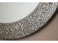Round Crackle Wall Mirror