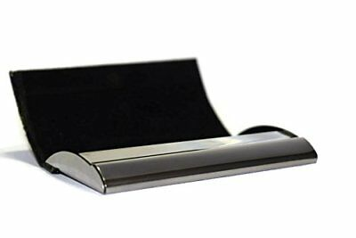 Leatherette Aluminium Wallet Business Card Holder For Men Women Rfid