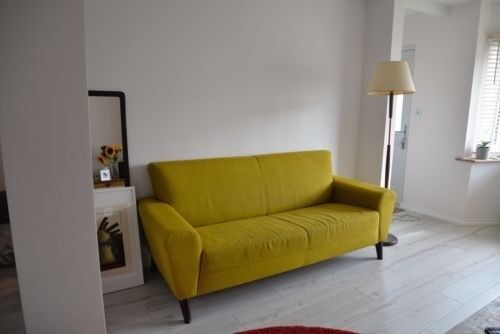 Fine Stylish Modern Lime Green 3 Seater Freestanding Sofa By Eq3 With Wooden Legs In Dagenham London Gumtree Pdpeps Interior Chair Design Pdpepsorg