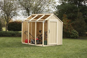 NEW-2x4basics-90192-Shed-Kit-Peak-Style-Roof-Garden-Storage-w-Steel-Connectors