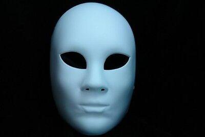 Blank Masquerade Mask - Venetain Halloween Full Face Mask - Made of Light Resin - Full Face Masquerade Masks