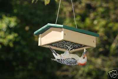 Bird Feeder Recycled Upside Down Suet Birdfeeder   SERUBSUDF100HD