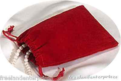 Jewelry Pouch Velourvelvet Type Pouch Lot Of 5 Red Color