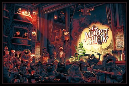 The Muppet Show Poster 36x24 Numbered #/350 Mondo Kevin Wilson Ape Meets