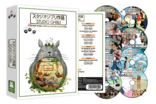 Hayao Miyazaki STUDIO GHIBLI SPECIAL EDITION COLLECTION 25-Movies DVD Box Set