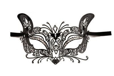 Mask from Venice Wolf Micio Luxury Venetian Lace Metal Black 253