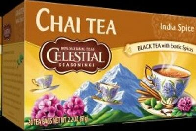 Celestial Seasonings India Spice Chai Tea, NEW 20 bags boxed