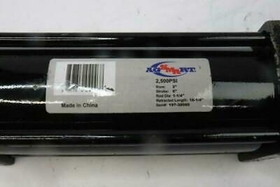 Ag-smart Hydraulic Cylinder 2500 Psi 3 Bore 6 Stroke 1-14rod Dia. 16-14