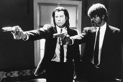 Samuel L  Jackson John Travolta Pulp Fiction Firing Guns 11X17 Mini Poster