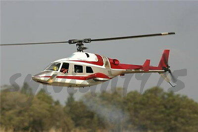(Funkey Bell 222 Scale Fuselage for 550(.30) + Retractable Landing Gear  RED  NIB)