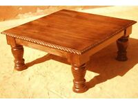 Solid oak coffee table - £60