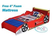 Junior car bed frame without mattress