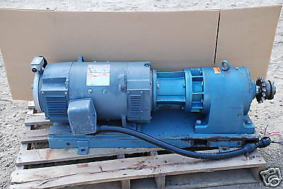 Ge Kinamatic 240 Volt Dc Motor 15 Hp Sew Eurodrive Speed Reducer 11.81 Ratio