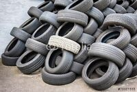 FREE WE PICK UP  USED TIRES FOR FREE