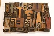 Letterpress Wood Type Lot