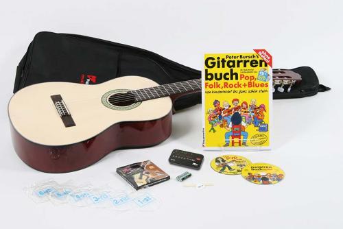 Volt Akustik-Gitarren-Set Voggenreiter 4/4 Gitarre und viel Zubehör