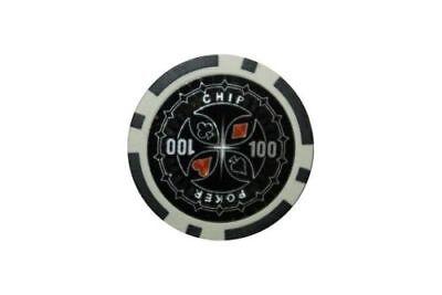 100 Laser Pokerchips. Ersatz Chips Poker Zubehör Wert 100 Schwarz, 12 Gramm