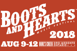 1 General Admission Boots and Hearts full weekend ticket