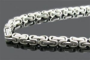 Stainless steel byzantine link chain