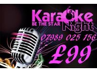 **KARAOKE FOR YOUR PUB/CLUB/FUNCTION**ONLY £99**SPCL OFFER**