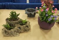 SCULPTURED CEMENT GARDEN FLOWER POT WORKSHOPS!