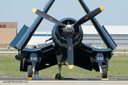 Giant Scale F4U-1D Corsair (Folding Wings) Plans and Templates 92ws