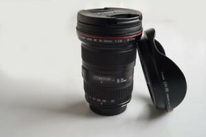 Two canon L lenses : canon 16 35 2.8 II and canon 24 70 2.8 L II