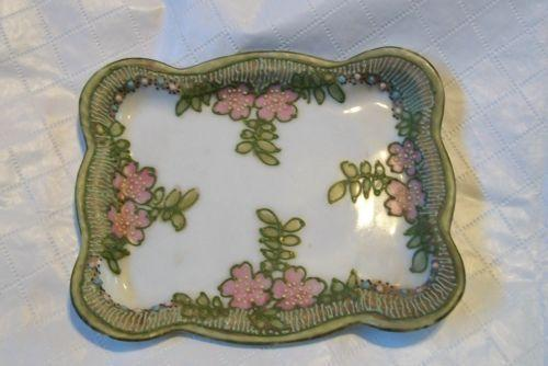 Good Beautiful Antique Porcelain 2 Sided Serving Dish Antiques Ceramics & Porcelain Tray With Handle