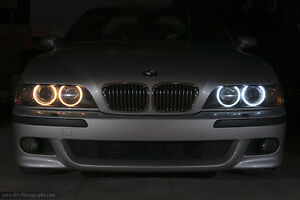 BMW LED parking light bulbs (angel eyes) - cool white color