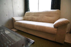 Ikea beige microfibre couch or sofa perfect for condos!