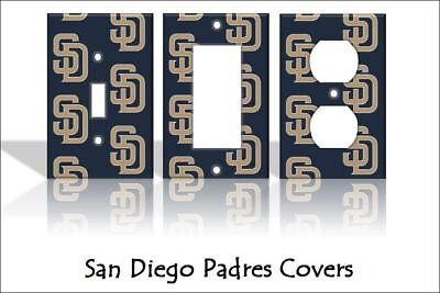 San Diego Padres Light Switch Covers Baseball MLB Home Decor Outlet