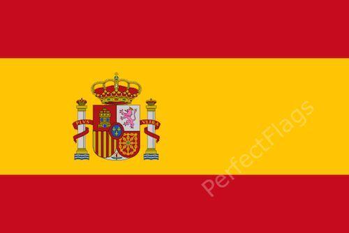 SPAIN STATE CREST FLAG - SPANISH NATIONAL FLAGS - Hand, 3x2, 5x3, 8x5 Feet