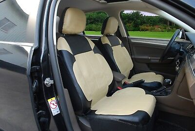 A153 B/T Leather Like 2 Front Bucket Car Seat Cover Compatible To Toyota Corolla for sale  USA