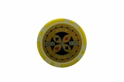 100 Laser Pokerchips. Ersatz Chips Poker Zubehör Wert 1000 Gelb, 12 Gramm