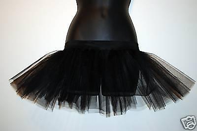 NeW BLACK TUTU SKIRT 16-18 EMO GOTH CLUB DANCE HENS STAG - Goth Emo Kostüm