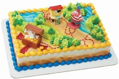 DecoPac SpongeBob Birthday PIRATE TREASURE HUNT CAKE TOPPER with Skeleton Ring - Spongebob Birthday Cakes