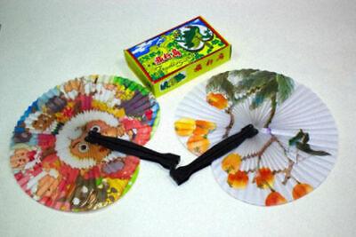 12 x China Handfächer Fächer Taschenfächer Klappfächer Papierfächer
