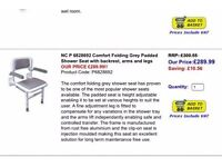 N&C Shower Seat - product code p6828692