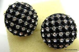 Vintage Plastic Clip On Earrings