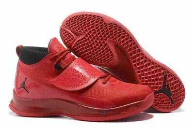 82716f0fb412 NIKE Air Jordan Mens Super Fly 5 PO Red Basketball Shoes Sz 10.5 881571-601