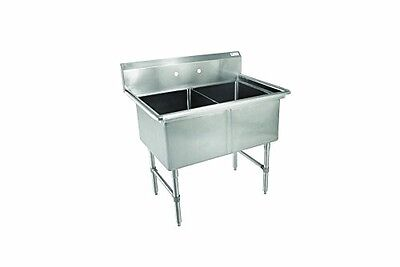 John Boos 2b18244 B Series 2 Compartment Stainless Steel Sink No Drain Board 1