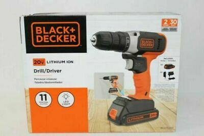 - BLACK+DECKER 20-Volt MAX Lithium Cordless Drill, BCD702C1