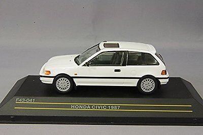FIRST:43 1/43 scale Honda Civic 1987 White F43-041 from Japan