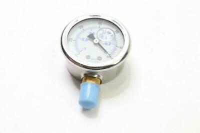 Vacuum Pump Gauge 30-0 Hg Liquid Filled 2.5 Dia X 14 Npt Connection