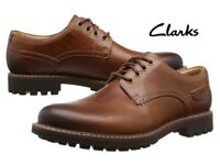 NEW IN BOX: Size 9.5 or 11 Clarks Montacute Hall men's smart casual brown leather shoes
