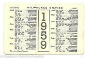 Milwaukee Braves Schedule