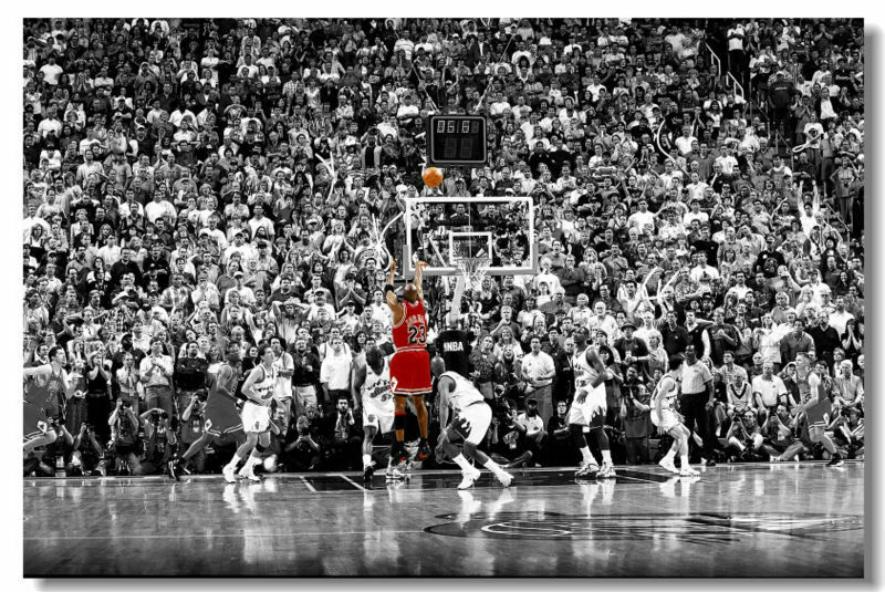 "NEW Michael Jordan Last Shot Huge Art Giant Poster Wall Print 32""x48"" in"