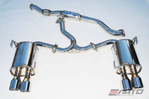 INVIDIA Q300 QUAD ROLLED STAINLESS STEEL CATBACK EXHAUST 76MM 11