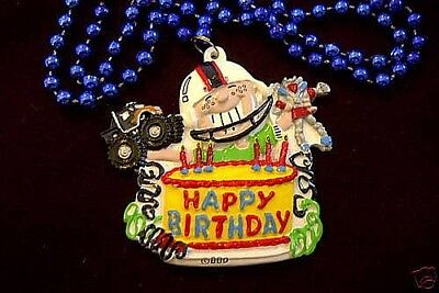 "BOYS ""HAPPY BIRTHDAY CAKE"" TOYS TRUCK MARDI GRAS NECKLACE PARTY BEAD (B587)"